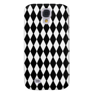 Black And White Diamond Pattern Samsung Galaxy S4 Cover