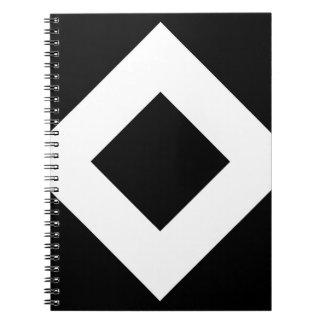 Black and White Diamond Pattern Spiral Note Books