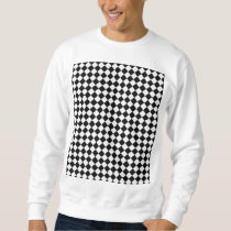 Black And White Diamond Pattern Sweatshirt