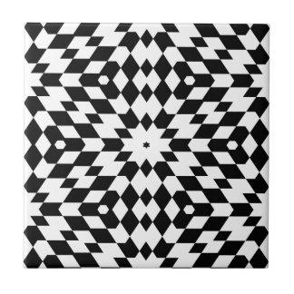 Black and White Diamond Pattern Tile