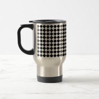 Black And White Diamond Pattern Travel Mug