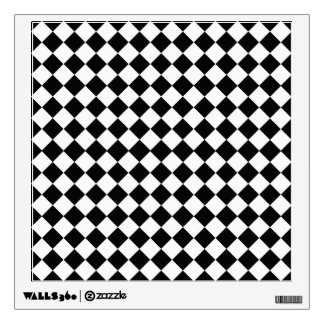 Black And White Diamond Pattern Room Graphics