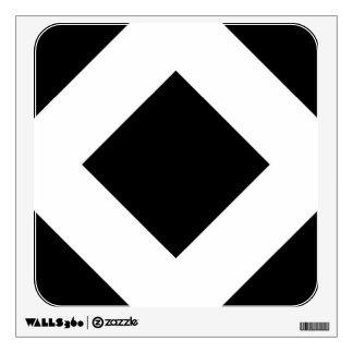 Black and White Diamond Pattern Wall Graphics