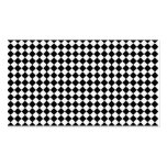 Black And White Diamond Shape Pattern Business Cards