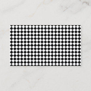 Diamond shaped business cards templates zazzle black and white diamond shape pattern by staylor business card colourmoves