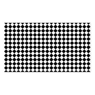 Black And White Diamond Shape Pattern Double-Sided Standard Business Cards (Pack Of 100)