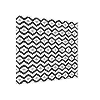 Black and White Diamond Zigzag Canvas