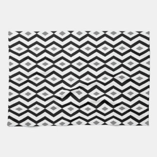 Black and White Diamond Zigzag Kitchen Towel