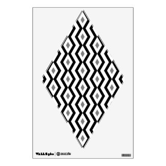 Black and White Diamond Zigzag  Wall Decal