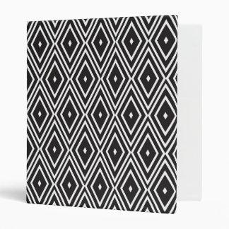 Black and White Diamonds Vinyl Binder