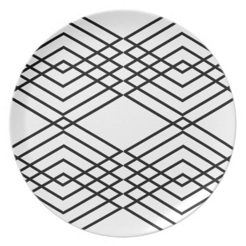 Black and White Diamonds Dinner Plate