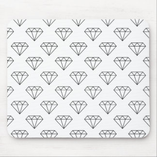 Black And White Diamonds Mouse Pad