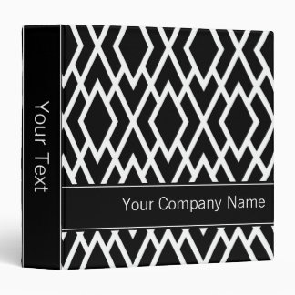 Black and White Diamonds Personalized 3 Ring Binders