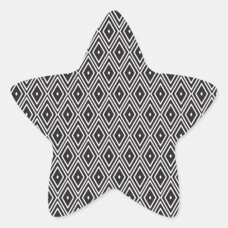 Black and White Diamonds Star Sticker