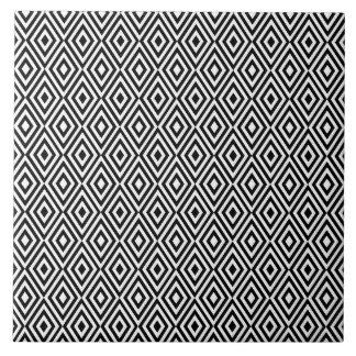 Black and white diamonds tile