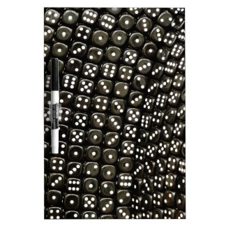 Black and white dice structure wall Dry-Erase whiteboard