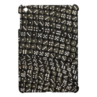 Black and white dice structure wall iPad mini covers