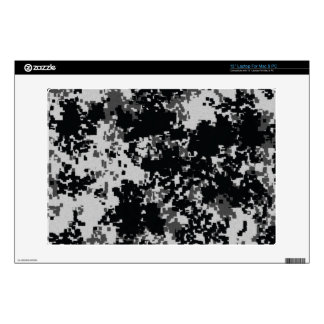 Black and White Digital Camo Laptop Decal