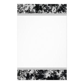 Black and White Digital Camo Stationery