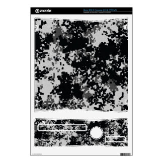 Black and White Digital Camo Xbox 360 S Decal