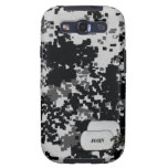 Black and White Digital Camouflage Galaxy S3 Case
