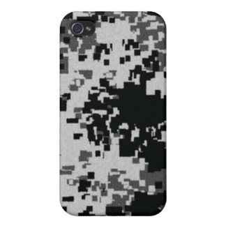 Black and White Digital Camouflage i Covers For iPhone 4
