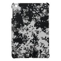 Black and White Digital Camouflage iPad Mini Case