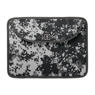 Black and White Digital Camouflage MacBook Pro Sleeve