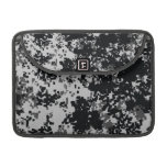 Black and White Digital Camouflage Sleeves For MacBook Pro