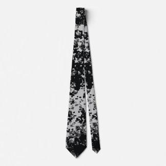 Black and White Digital Military Camo ties