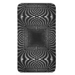 Black and White Distorted Geometric Pattern