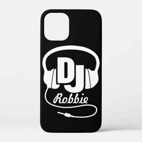 Black and white DJ name headphone Phone Case