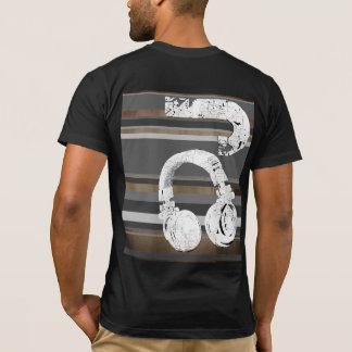 black and white DJ striped T-Shirt