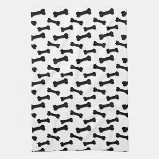 BLACK and WHITE Dog Bones Ver 2 A004 Towel