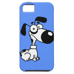 Black and white Dog iPhone 5 Cover