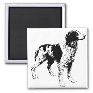 Black and White Dog Magnet