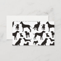 Black and White Dog Pattern Business Card