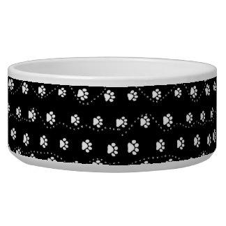Black and White  Dog Prints Bowl