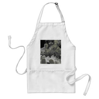 Black and White Doll Adult Apron