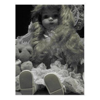 Black and White Doll Postcard