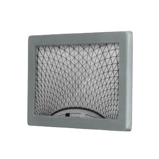 black and white dome ceiling rectangular belt buckle