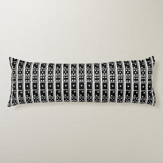 Black and White Dominoes Design Body Pillow