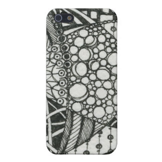 Black and White Doodle ACEO Art Case For iPhone SE/5/5s