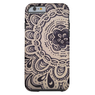 black and white doodle iPhone 6 case