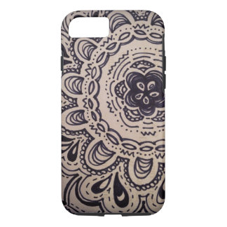 black and white doodle iPhone 7 case