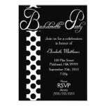 Black and White Dots Bachelorette Party Invitation