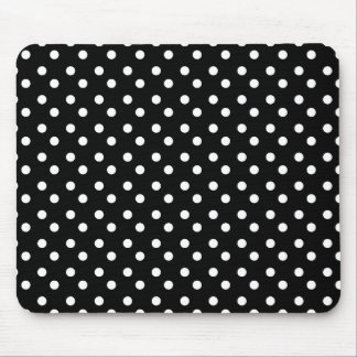 Black and White Dots Mousepad