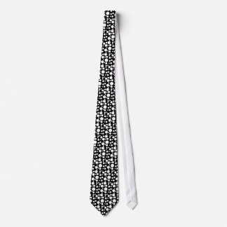 BLACK AND WHITE DOTS NECK TIE