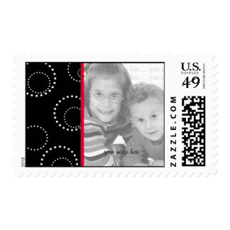BLack and White Dots Photo Template Postage
