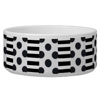 Black and White Dots/Stripes Bowl